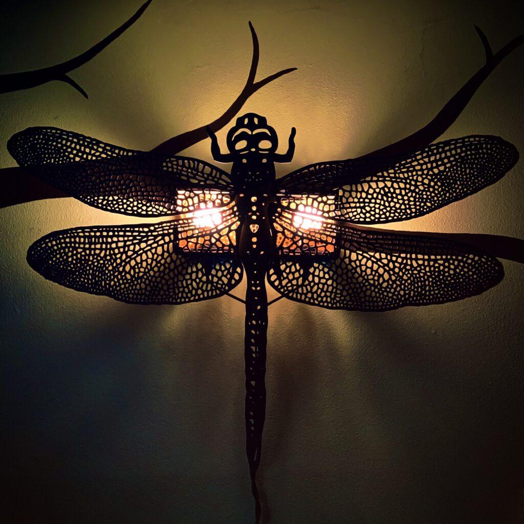 """Dragonfly Light (44"""") by Tona Williams"""